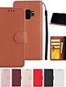 Kılıf Na Samsung Galaxy S9 / S9 Plus / S7 Edge Etui na karty Pełne etui Solidne kolory Skóra PU