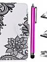 Kılıf Na Samsung Galaxy J3 (2017) Portfel / Etui na karty / Z podpórką Pełne etui Koronka Printing Twardość Skóra PU