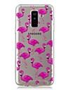 Kılıf Na Samsung Galaxy A6 (2018) / A6+ (2018) / A3(2017) Transparentny / Wzór Osłona tylna Flaming Miękka TPU