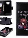 Kılıf Na Samsung Galaxy Note 5 / Note 4 / Note 3 Portfel / Etui na karty / Z podpórką Pełne etui Napis / Zdanie Twardość Skóra PU