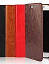 Kılıf Na Samsung Galaxy S9 / S8 / S7 Edge Portfel / Etui na karty / Z podpórką Pełne etui Solidne kolory Twardość Prawdziwa skóra