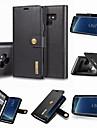 Kılıf Na Samsung Galaxy Note 9 / Note 8 Portfel / Etui na karty / Z podpórką Pełne etui Solidne kolory Twardość Prawdziwa skóra