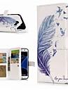 Kılıf Na Samsung Galaxy S9 / S9 Plus / S8 Plus Portfel / Etui na karty / Z podpórką Pełne etui Pióra Twardość Skóra PU