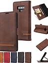 Coque Pour Samsung Galaxy Note 9 / Note 8 Portefeuille / Porte Carte / Avec Support Coque Integrale Couleur Pleine Dur faux cuir