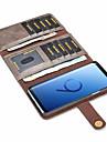Kılıf Na Samsung Galaxy S9 / S9 Plus / S8 Plus Etui na karty / Odporny na wstrząsy / Flip Pełne etui Solidne kolory Twardość Skóra PU