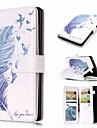Kılıf Na Samsung Galaxy Note 9 / Note 8 / Note 5 Portfel / Etui na karty / Z podpórką Pełne etui Pióra Twardość Skóra PU