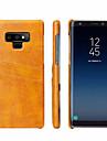 Kılıf Na Samsung Galaxy Note 9 Etui na karty Osłona tylna Solidne kolory Twardość Prawdziwa skóra
