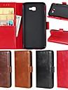 Kılıf Na Samsung Galaxy J7 Prime / J7 Perx / J7 (2016) Portfel / Etui na karty / Z podpórką Pełne etui Solidne kolory Twardość Prawdziwa skóra