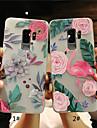 Kılıf Na Samsung Galaxy S9 / S9 Plus / S8 Plus Matowa / Półprzezroczyste / Wytłaczany wzór Osłona tylna Flaming / Kwiat Miękka TPU