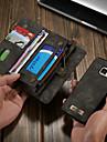 Kılıf Na Samsung Galaxy S7 Portfel / Etui na karty / Z podpórką Pełne etui Solidne kolory Twardość Skóra PU