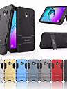 Kılıf Na Samsung Galaxy J4 (2018) Odporny na wstrząsy / Z podpórką Osłona tylna Solidne kolory Twardość PC