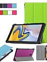 Kılıf Na Samsung Galaxy Tab S2 8.0 / Tab A 8.0 (2017) / Tab 8,0 Z podpórką / Flip / Origami Pełne etui Solidne kolory Twardość Skóra PU