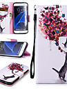 Kılıf Na Samsung Galaxy S7 Edge Portfel / Etui na karty / Odporny na wstrząsy Pełne etui Motyl Twardość Skóra PU