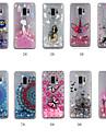 Kılıf Na Samsung Galaxy S9 / S9 Plus / S8 Plus Z płynem / Transparentny / Wzór Osłona tylna Psy / Mandala / Motyl Twardość TPU