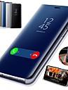 Kılıf Na Samsung Galaxy S9 / S9 Plus / S8 Plus Z podpórką / Powłoka / Lustro Pełne etui Solidne kolory Twardość Skóra PU