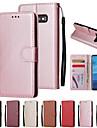 Kılıf Na Samsung Galaxy S9 / S9 Plus / S8 Plus Portfel / Etui na karty / Z podpórką Pełne etui Solidne kolory Twardość Skóra PU