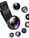 Obiektyw do telefonów komórkowych Obiektyw z filtrem / Obiektyw rybie oko / Obiektyw szerokokątny Okulary / Tworzyw sztucznych i metali / Stop aluminium 2X 4 mm 3 m 235 ° Obiektyw ze stojakiem
