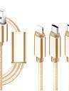Micro USB / Oświetlenie / Type-c Kable 1m-1.99m / 3ft-6ft All-In-1 / Pleciony / 1 do 3 Tekstylny Adapter kabla USB Na iPad / Samsung / Huawei