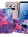 Kılıf Na Samsung Galaxy S9 / S9 Plus / S8 Plus Portfel / Etui na karty / Z podpórką Pełne etui Wzór geometryczny / Przejście kolorów Twardość Skóra PU