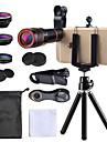 Obiektyw do telefonów komórkowych Obiektyw rybie oko / Obiektyw z dużą ogniskową / Obiektyw szerokokątny Okulary / Plastik 10X i więcej 35 mm 15 m 198 ° Obiektyw ze stojakiem