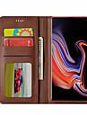 Kılıf Na Samsung Galaxy S9 / S9 Plus / S8 Plus Etui na karty / Z podpórką / Magnetyczne Pełne etui Solidne kolory Twardość Skóra PU