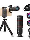 Obiektyw do telefonów komórkowych Obiektyw rybie oko / Obiektyw z dużą ogniskową / Obiektyw szerokokątny Okulary / Stop aluminium 10X i więcej 32 mm 3 m 9.6 ° Obiektyw ze stojakiem / Kreatywne