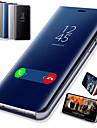 Kılıf Na Samsung Galaxy A6 (2018) / A6+ (2018) / Galaxy A7(2018) Z podpórką / Powłoka / Lustro Pełne etui Solidne kolory Twardość Skóra PU / PC