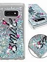 Kılıf Na Samsung Galaxy S9 / S9 Plus / S8 Plus Odporny na wstrząsy / Z płynem / Transparentny Osłona tylna Napis / Zdanie / Połysk Miękka TPU