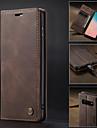 Kılıf Na Samsung Galaxy Galaxy S10 / Galaxy S10 Plus / Galaxy S10 E Portfel / Etui na karty / Z podpórką Pełne etui Solidne kolory Twardość Skóra PU