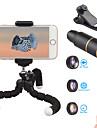 Obiektyw do telefonów komórkowych Obiektyw rybie oko / Obiektyw z dużą ogniskową / Obiektyw szerokokątny Okulary / Stop aluminium 10X i więcej 32 mm 3 m 9 ° Obiektyw ze stojakiem / Nowy design