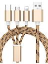 Micro USB Kable 1.3m (4.3Ft) All-In-1 / Pleciony Nylon Adapter kabla USB Na Samsung / Huawei / Xiaomi