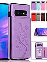 Kılıf Na Samsung Galaxy S9 / S9 Plus / S8 Plus Etui na karty / Z podpórką / Wytłaczany wzór Pełne etui Solidne kolory Miękka Skóra PU