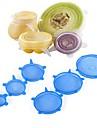 6 sztuk żywności okłady wielokrotnego użytku silikonowe żywności świeże utrzymanie uszczelnione pokrowce silikonowe uszczelnienie próżniowe stretch pokrywki saran okłady organizacji \ t
