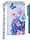 Kılıf Na Samsung Galaxy J7 (2017) / J6 (2018) / J6 Plus Portfel / Etui na karty / Z podpórką Pełne etui Motyl / Kwiat Twardość Skóra PU