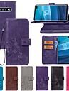 Kılıf Na Samsung Galaxy S9 / S9 Plus / S8 Plus Portfel / Z podpórką / Flip Pełne etui Solidne kolory / Motyl / Kwiat Twardość Skóra PU