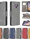 Kılıf Na Samsung Galaxy Note 9 / Note 8 Portfel / Etui na karty / Odporny na wstrząsy Pełne etui Solidne kolory Twardość Skóra PU