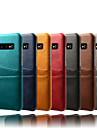 Kılıf Na Samsung Galaxy Galaxy S10 / Galaxy S10 Plus / Galaxy S10 E Etui na karty / Odporne na kurz / Wodoszczelny Osłona tylna Solidne kolory Twardość Skóra PU / PC
