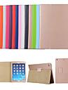 Etui Til Apple iPad Air / iPad 4/3/2 / iPad (2018) med stativ / Flipp Heldekkende etui Ensfarget Hard PU Leather / iPad Pro 10.5 / iPad (2017)