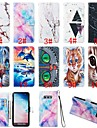 Kılıf Na Samsung Galaxy J8 (2018) / J7 (2017) / J6 (2018) Portfel / Etui na karty / Z podpórką Pełne etui Zwierzę / Marmur Twardość Skóra PU