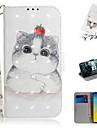 Kılıf Na Samsung Galaxy S7 Edge / S7 / Galaxy S10 Portfel / Etui na karty / Z podpórką Pełne etui Zwierzę / Kreskówka 3D Skóra PU