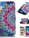 Kılıf Na Samsung Galaxy J3 (2016) Portfel / Etui na karty / Flip Pełne etui Kwiat Twardość Skóra PU