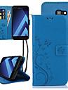 Kılıf Na Samsung Galaxy A5 Etui na karty / Flip Pełne etui Kwiat Twardość Skóra PU