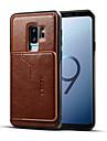 dla samsung s9 plus retro pu skórzany portfel posiadacz karty stojak antypoślizgowa, odporna na wstrząsy obudowa telefonu komórkowego