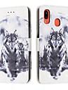 Kılıf Na Samsung Galaxy A6 (2018) / A6+ (2018) / Galaxy A7(2018) Portfel / Etui na karty / Odporny na wstrząsy Pełne etui Zwierzę Skóra PU
