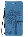 etui do samsung galaxy note 10 galaxy note 10 plus etui na telefon pu skóra materiał wytłoczony wzór kota i drzewa jednolity kolor etui na telefon