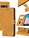 etui do Samsung Galaxy S8 Plus / S9 Plus / S7 Edge Wallet / Card Holder / z podstawką etui pełne etui Solidne kolorowe skórzane etui PU do Samsung Galaxy S10 / S10e / S10 Plus / Galaxy S9 / Galaxy S8