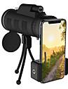 obiektyw telefonu zoom 40x60 teleskop monokularowy aparat kempingowy wędrówki wędkarski obiektyw z kompasem klips do telefonu statyw
