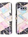 Kılıf Na Samsung Galaxy S9 / S9 Plus / Galaxy S10 Portfel / Etui na karty / Odporny na wstrząsy Pełne etui Wzór geometryczny Skóra PU