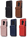 Kılıf Na Samsung Galaxy S9 / S9 Plus / S8 Etui na karty Osłona tylna Solidne kolory Skóra PU / TPU