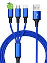 Micro USB / Oświetlenie / Type-c Kable 1,2 m (4 stóp) Pleciony / 1 do 3 / Szybka opłata Polichlorek winylu / Nylon Adapter kabla USB Na Samsung / Huawei / Xiaomi